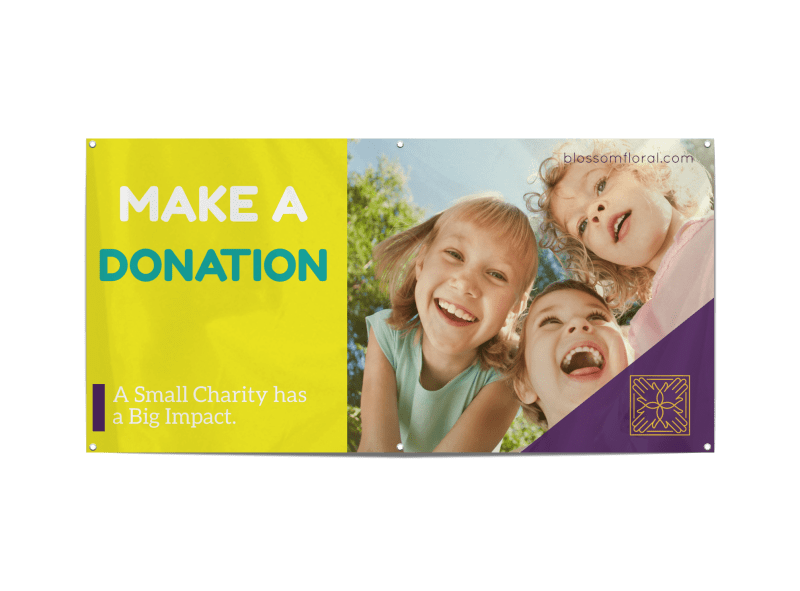 Make A Donation Banner Template Preview 1