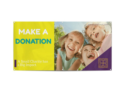 Make A Donation Banner Template preview