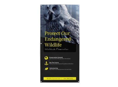 Wildlife Donation Banner Template preview