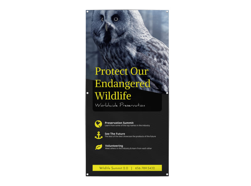 Wildlife Donation Banner Template Preview 3