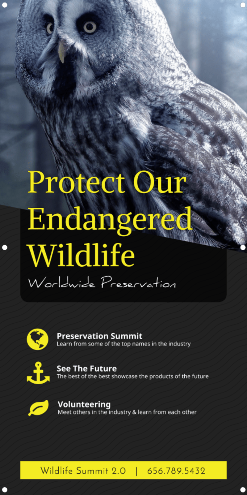 Wildlife Donation Banner Template Preview 2