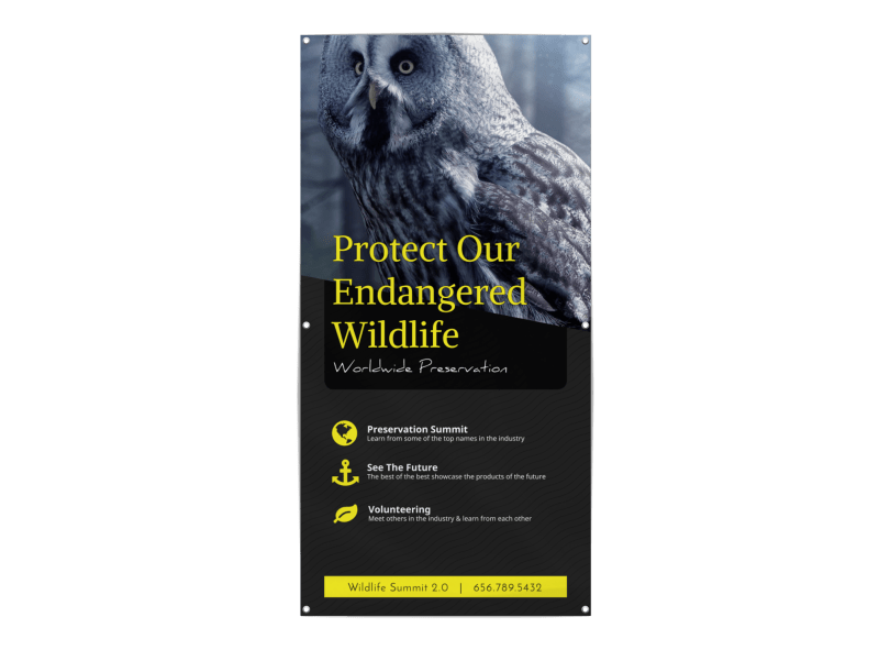 Wildlife Donation Banner Template Preview 1