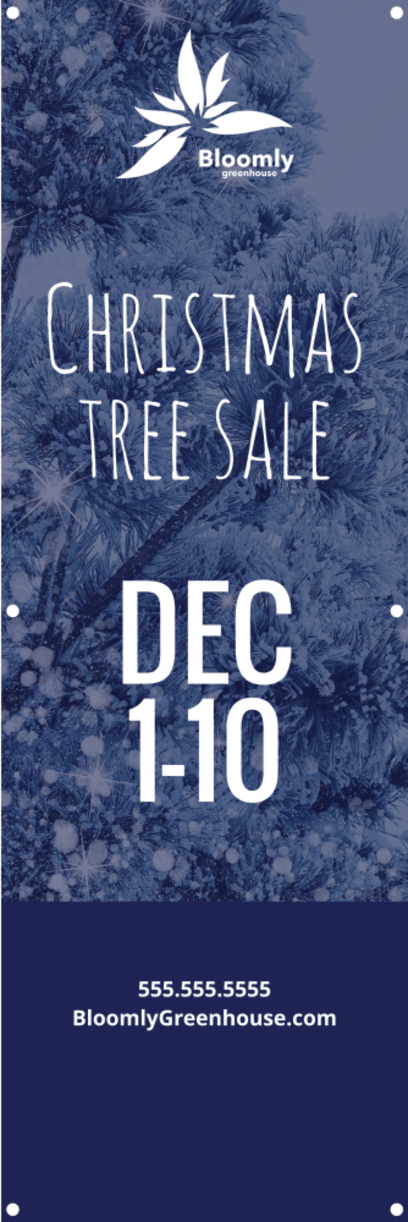 Christmas Tree Sale Banner Template Preview 2