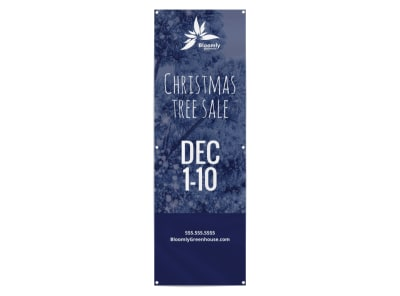 Christmas Tree Sale Banner Template preview