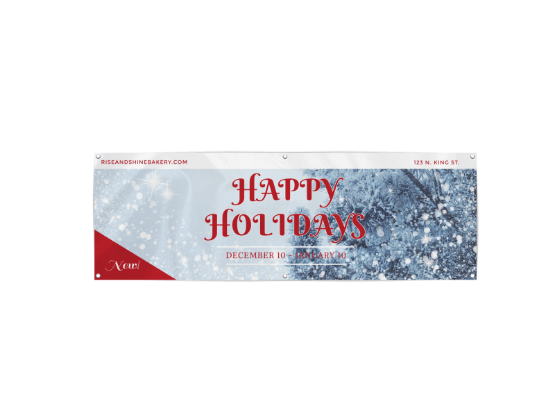 Happy Holidays Banner Template