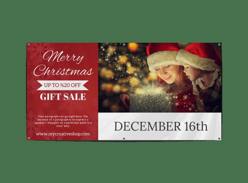 Christmas Gift Sale Banner Template