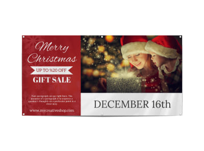 Christmas Gift Sale Banner Template preview