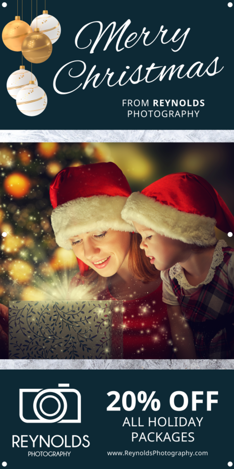 Merry Christmas Banner Template Preview 2