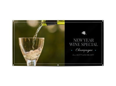 New Year Wine Special Banner Template preview
