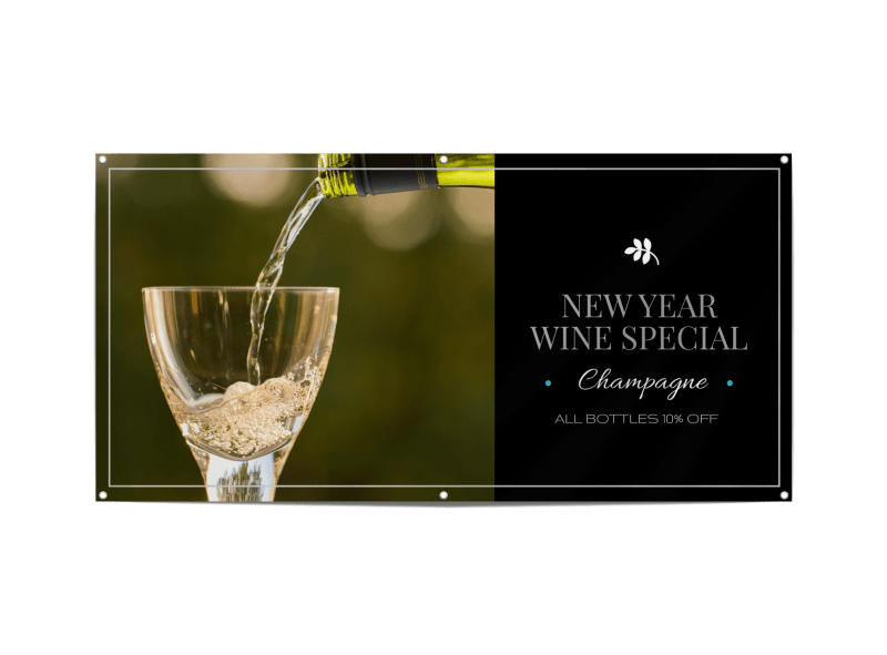 New Year Wine Special Banner Template Preview 1