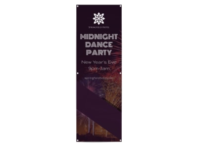 New Year's Dance Party Banner Template preview
