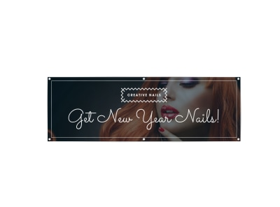 New Year Nails Banner Template preview