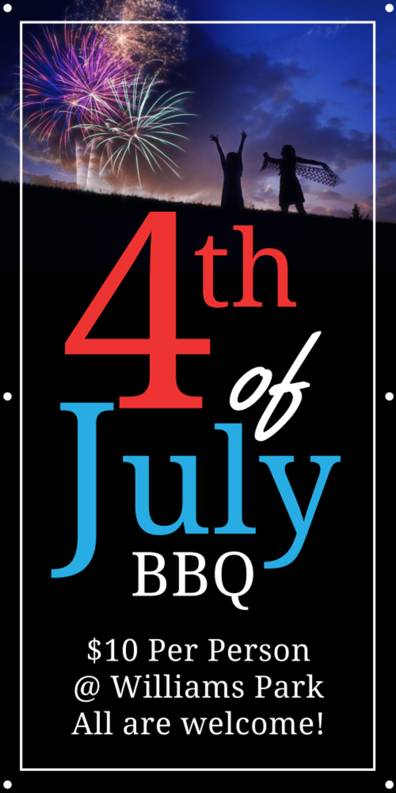 4th Of July BBQ Banner Template Preview 2