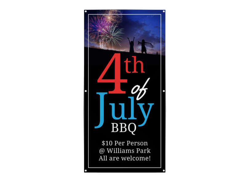 4th Of July BBQ Banner Template Preview 1