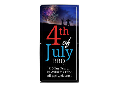 4th Of July BBQ Banner Template preview