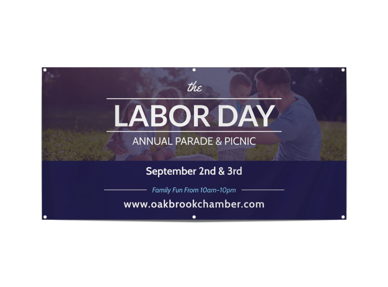 Labor Day Annual Parade Banner Template Preview 1