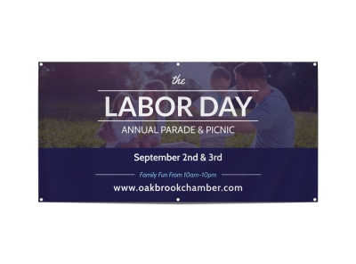 Labor Day Annual Parade Banner Template preview