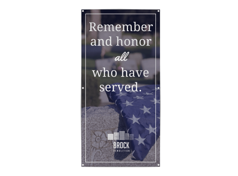 Remember Those Who Served Banner Template Preview 1