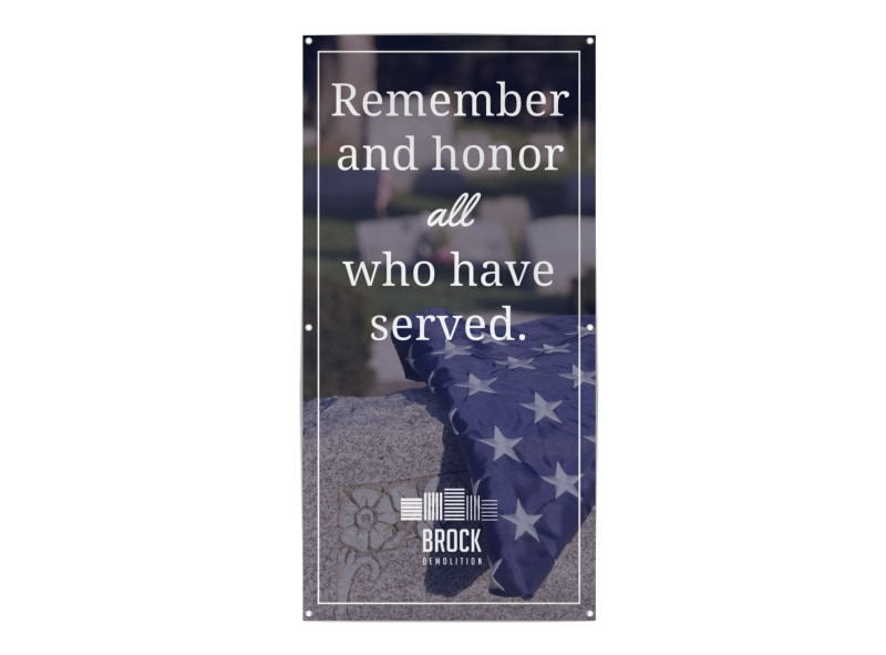 Remember Those Who Served Banner Template Preview 3