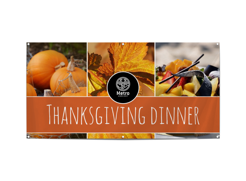 Thanksgiving Dinner Banner Template Preview 1
