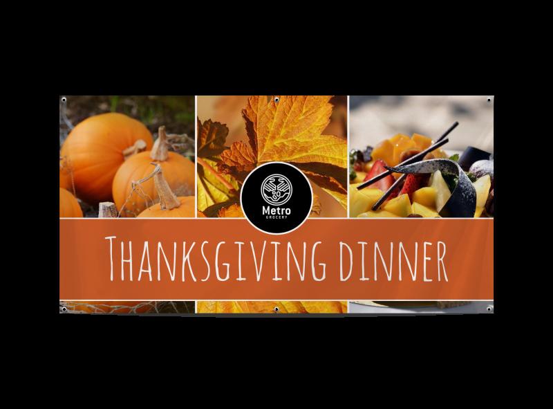 Thanksgiving Dinner Banner Template