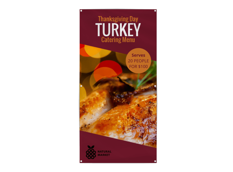 Thanksgiving Turkey Banner Template Preview 1