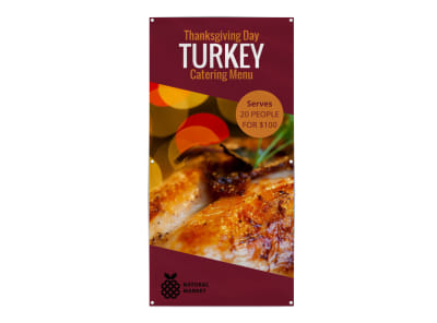 Thanksgiving Turkey Banner Template preview