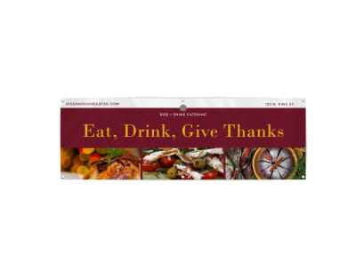 Eat Drink Give Thanks Banner Template preview