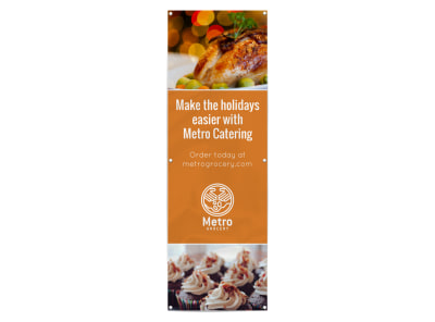 Thanksgiving Catering Banner Template preview