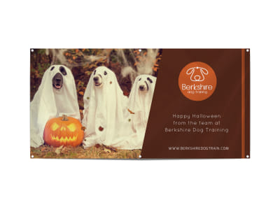 Happy Halloween Pet Banner Template preview