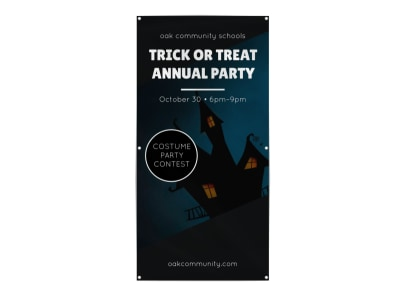 Halloween Party Banner Template preview