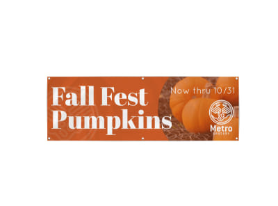 Fall Pumpkin Patch Banner Template preview