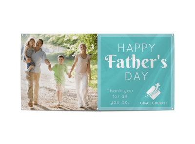 Happy Father's Day Banner Template preview