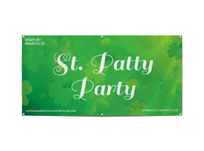 St. Patty Party Banner Template preview