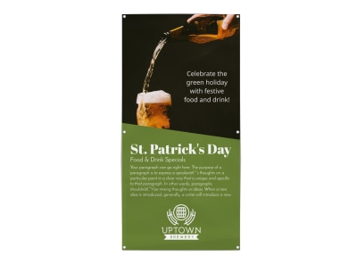 St Patrick's Day Banner Template preview