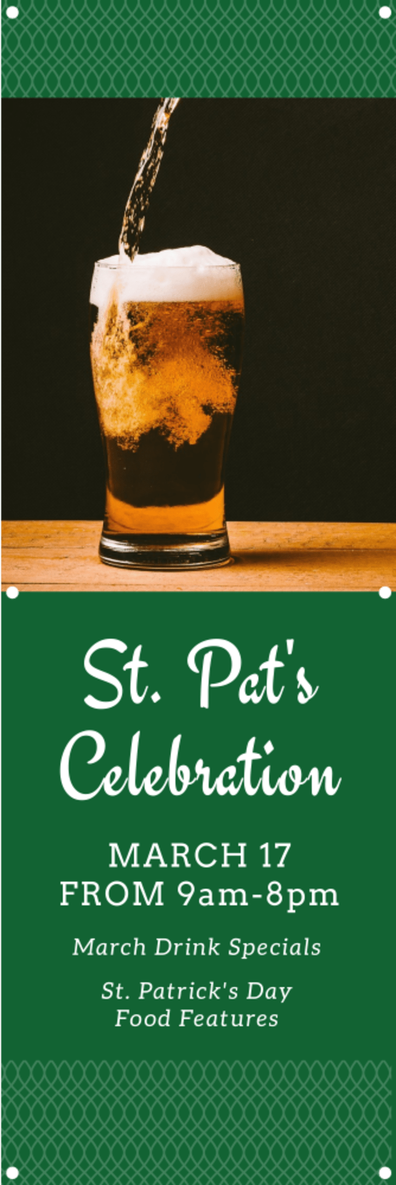 St Pat's Banner Template Preview 2