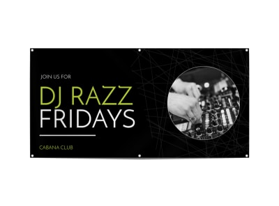 Friday DJ Banner Template preview