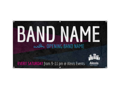 Simple Band Banner Template