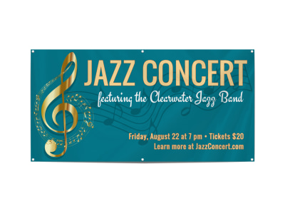 Awesome Jazz Concert Banner Template preview