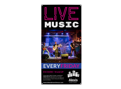 Live Music Concert Banner Template preview