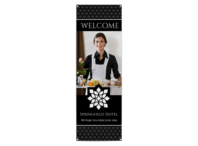 Hotel Welcome Banner Template Preview 1