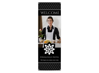 Hotel Welcome Banner Template preview