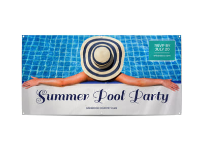 Summer Pool Party Banner Template