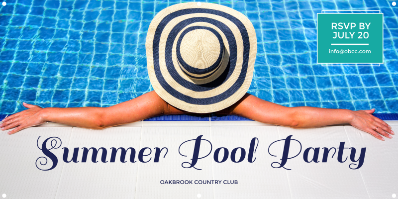 Summer Pool Party Banner Template Preview 2