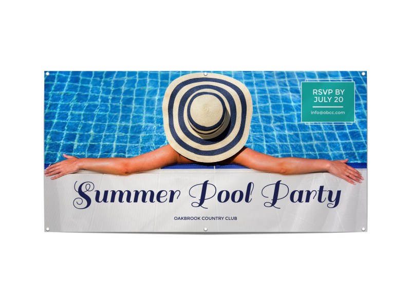 Summer Pool Party Banner Template Preview 1