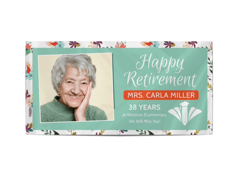 Happy Retirement Party Banner Template Preview 1