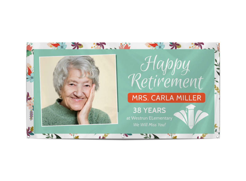 Happy Retirement Party Banner Template Preview 3