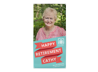 Happy Retirement Banner Template preview