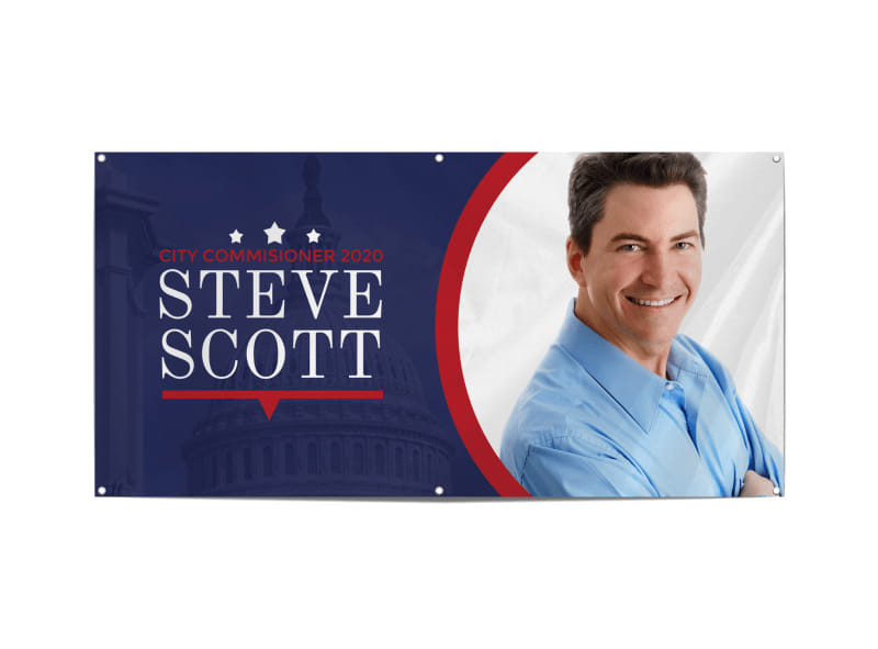 Political Campaign Banner Template Preview 3
