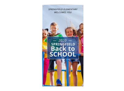 Back To School Fun Banner Template preview